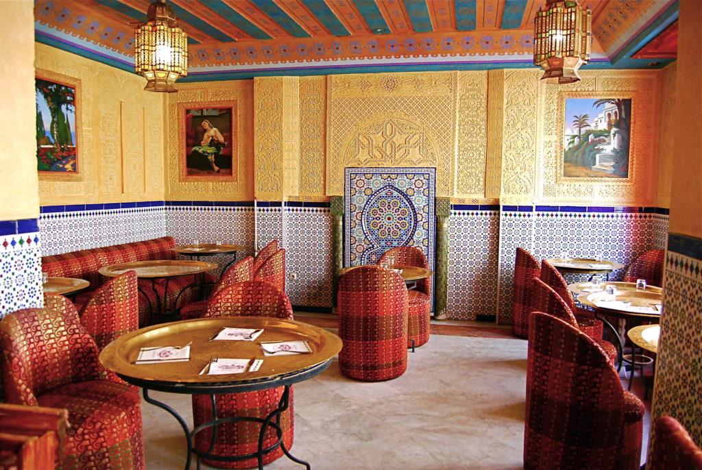 Un salon du restaurant de La Mosquée de Paris